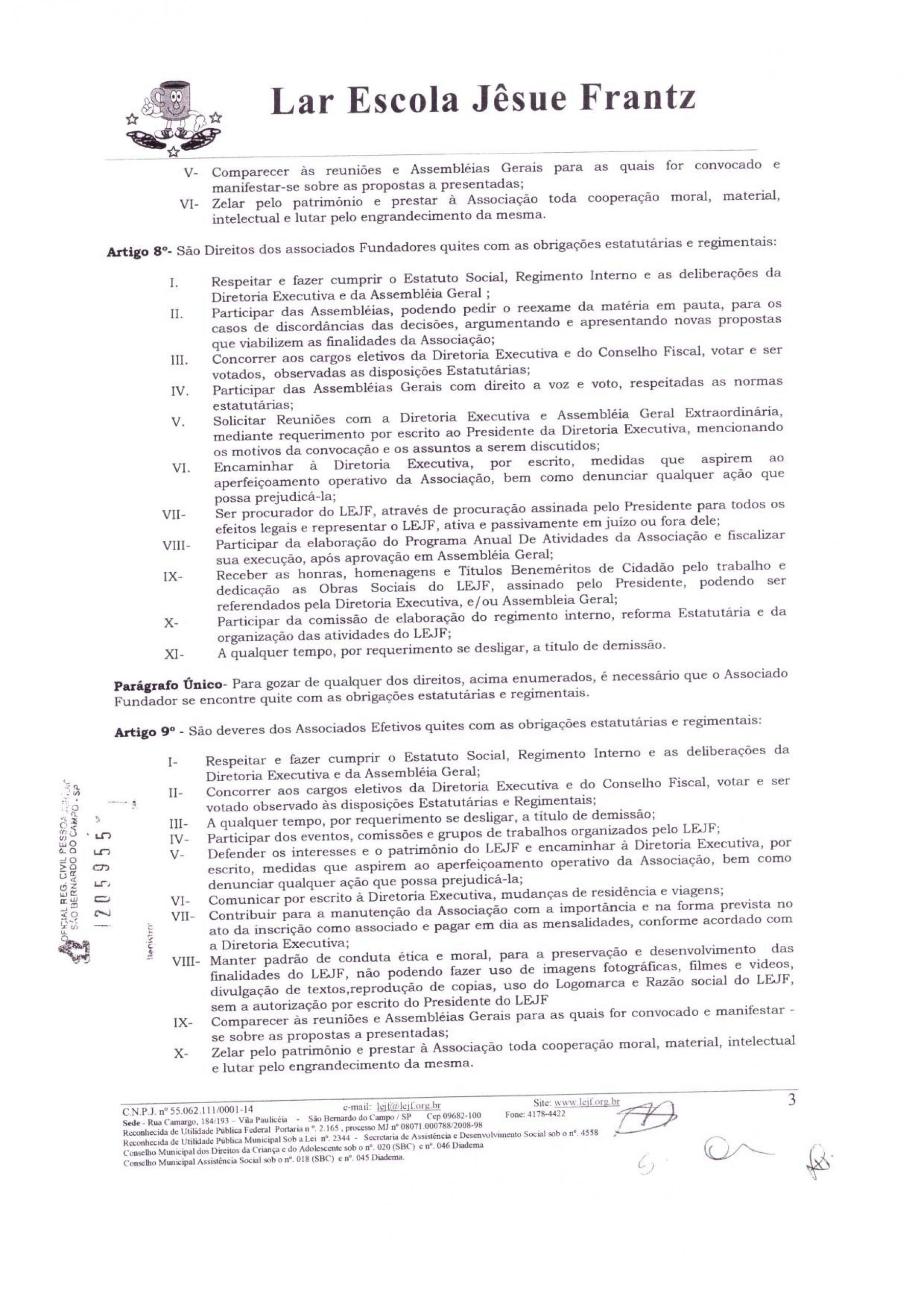 0003 - Estatuto 2018