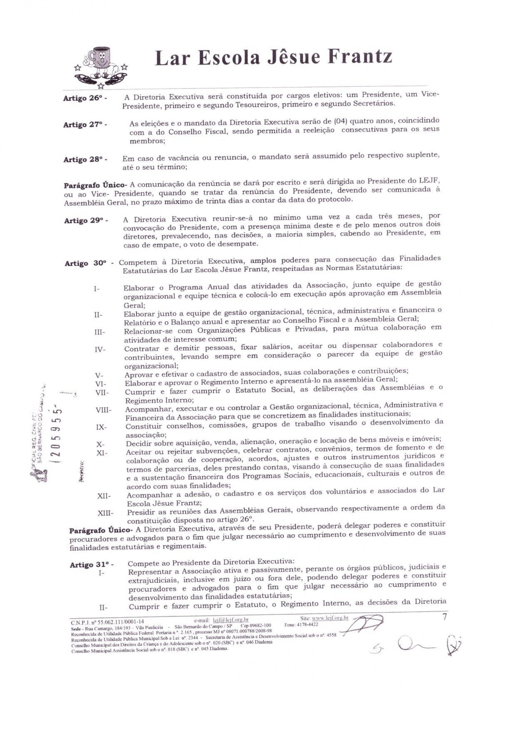 0007 - Estatuto 2018