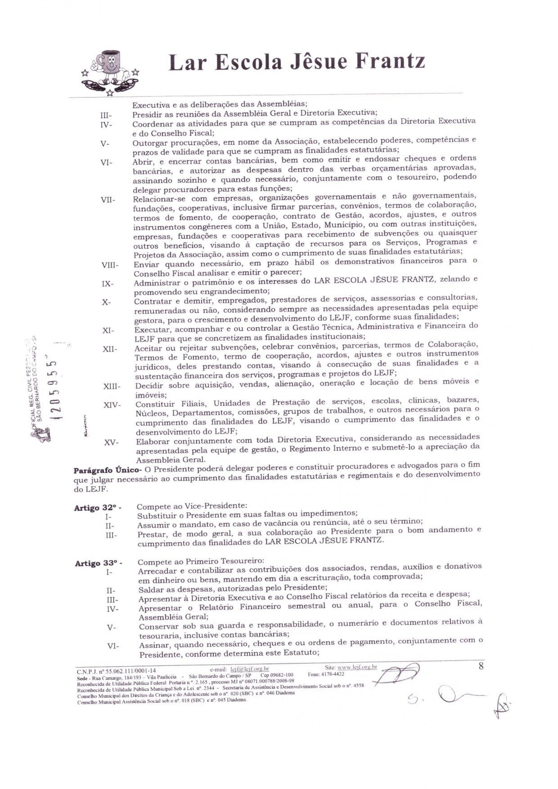 0008 - Estatuto 2018