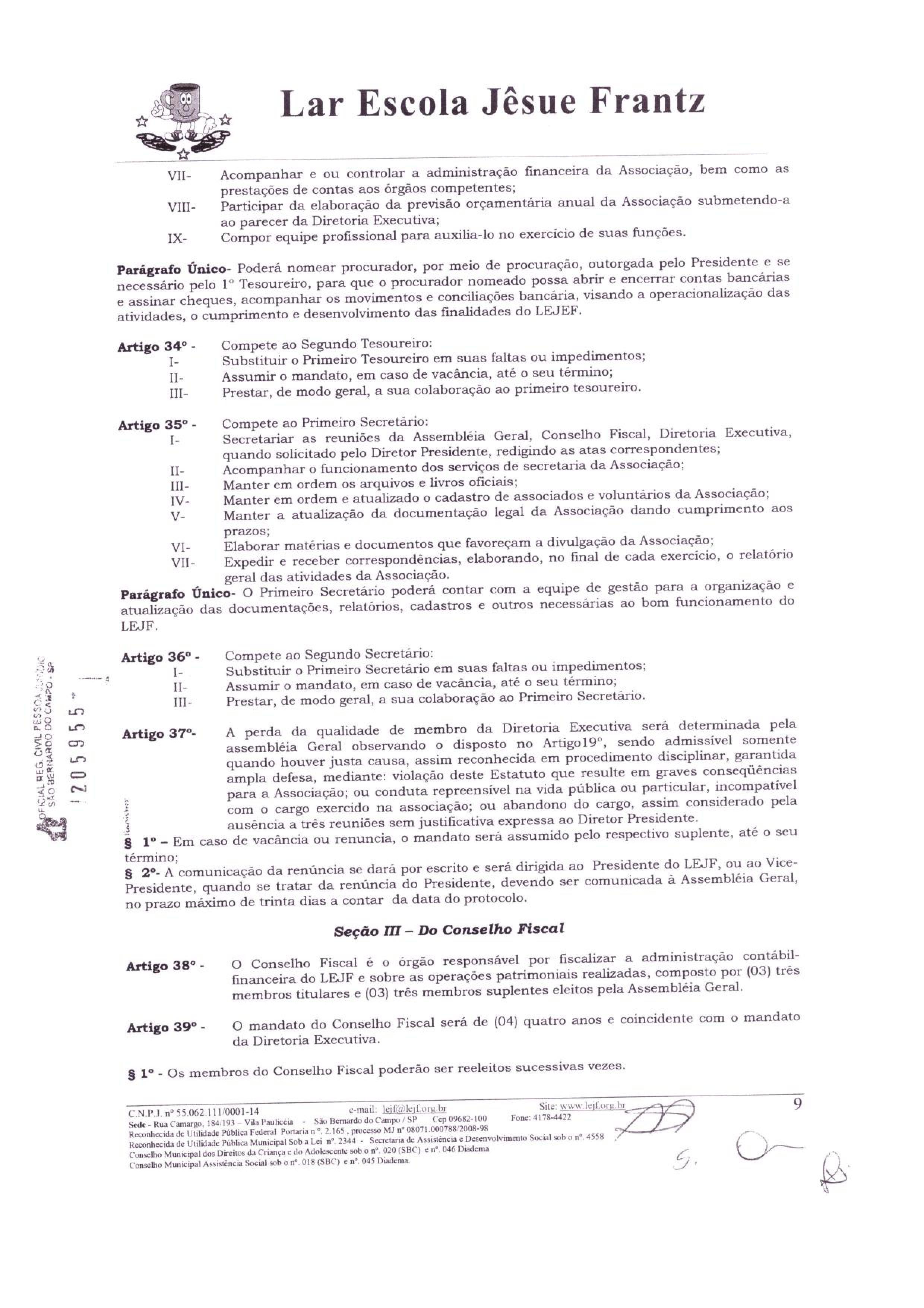 0009 - Estatuto 2018