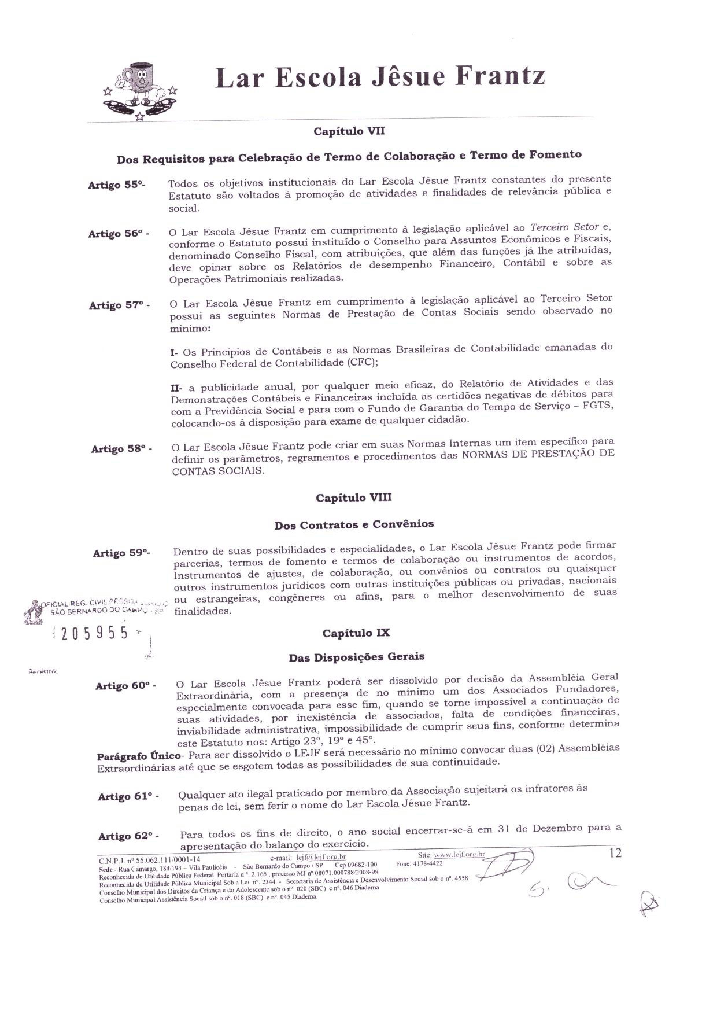 0012 - Estatuto 2018